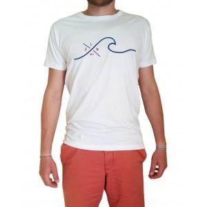 T-Shirt LA VAGUE - Blanc