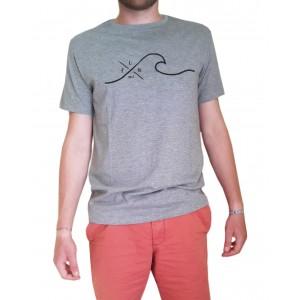 T-Shirt LA VAGUE - Gris chiné