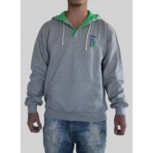 Sweatshirt DOUBLE - Gris / Vert